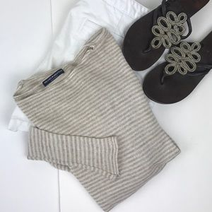 Brandy Melville light white beige stripe sweater